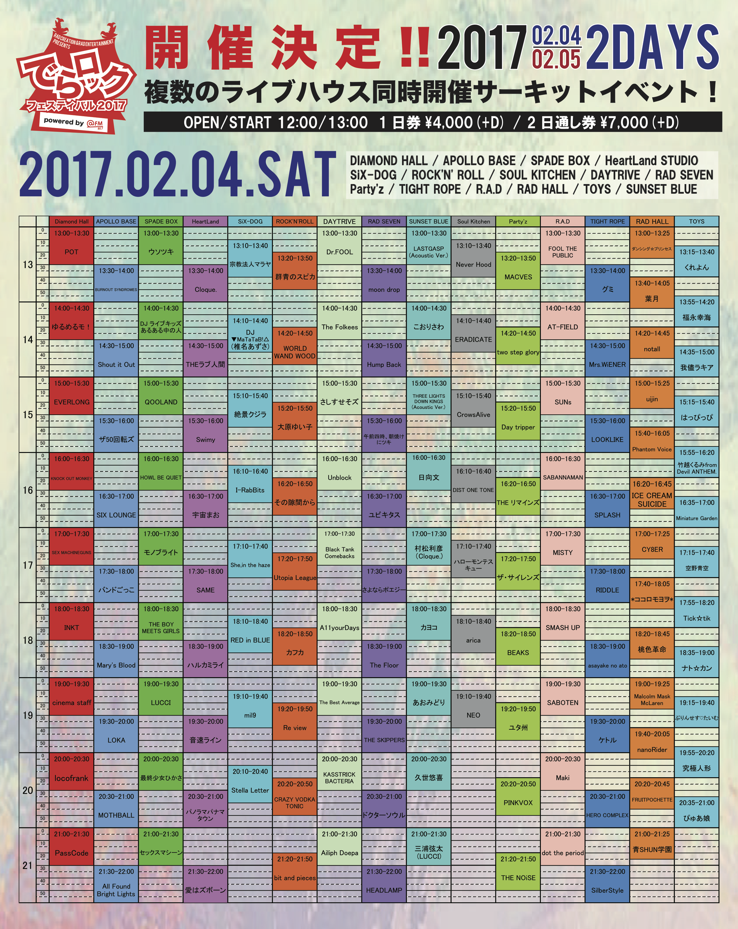 RAD CREATION & RAD ENTERTAINMENT presents でらロックフェスティバル2017 powered by @FM&